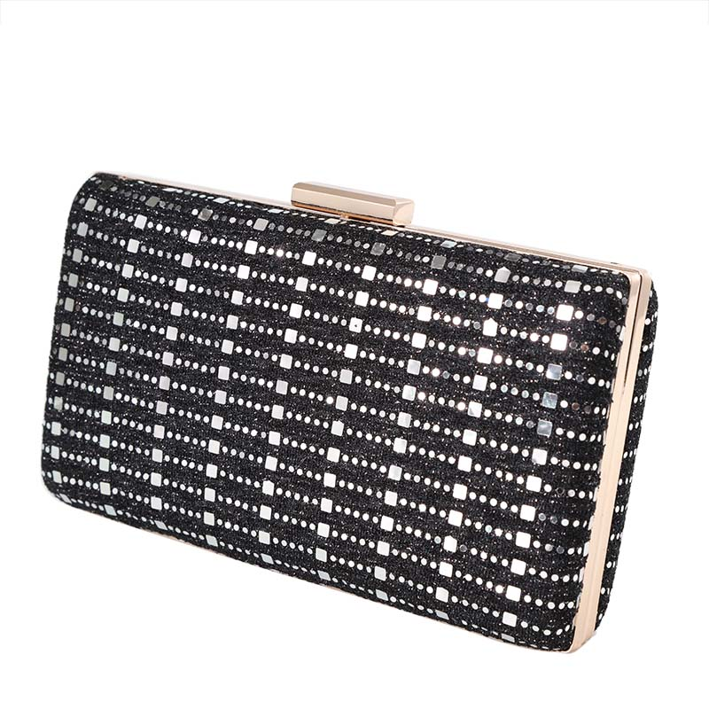Black glitter surface with gold metallic clutch bag -D8815 – 贝尔嘉 ... 63a8535bbb
